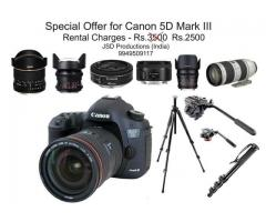 canon 5d mark iii Rent Hyderabad