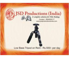 Low Base Tripod on Rent in Hyderabad - Equipment for Rental/ Hire