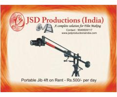 Camera Jib 4ft on Rent in Hyderabad - Equipment on Rental Hyderabad