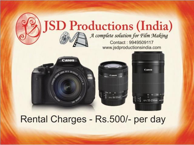 Professional Camera | Lens for Rent in Hyderabad & Andhra Pradesh ...
