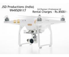 DJI Phantom 3 Professional 4K - Drone on Rent in Hyderabad