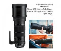 Sigma 120-300mm F/2.8 Lens on Rent - Canon lens Rental - Sports and Wildlife Lenses