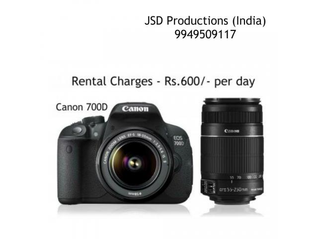 Canon 700d on Rent in Hyderabad - Dslr Rentals - Camera on Rent ...