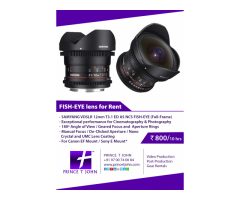 Fisheye Lens for Rent