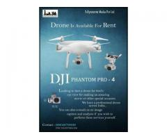 Phantom 4 Pro available for rent with operator