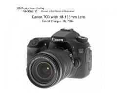 Canon 70D with !8-135mm Lens on Rent - camera rentals hyderabad