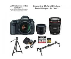 Canon 5D Mark III with Lenses Package for Rs.1500 - Canon 5D Mark III on Rent