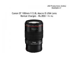 Canon 100mm Lens on Rent - Canon 100mm f/2.8L Macro IS USM Rental