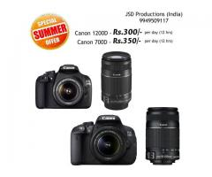 Dslr on Rent for Rs.300 - Dslr camera on rent Hyderabad