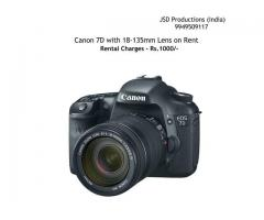 Canon 7D on Rent - Canon 7D with 18-135mm Lens on Rent - Dslr on Rent