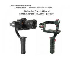Beholder DS-1 3-Axis Gimbal on Rent - 3 Axis Gimbal on Rent
