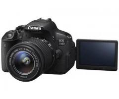 Canon 700d with dual lens for rent per day RS 800