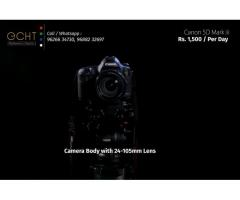 Camera for rent with lights and stand