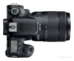 New canon 77d camera along vth 18 135mm lens for rent