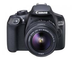 Canon 1300D with 18-55 MM and 55-250 MM Lens