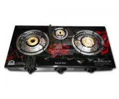 Surya 3 Burners Automatic Glass Top Gas Cooktop for rent in  Ahmedabad